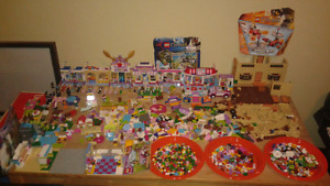Massive Lego friends playsets lot, over 50 mini figures must see