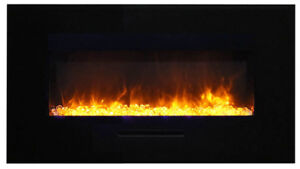 34 Inch Electric Fireplace Insert - Wall Flush Mount by Amantii