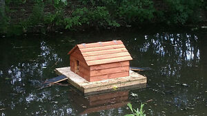 Floating duck houses