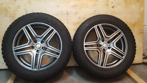Mercedes ML GL  AMG rims with winter tires
