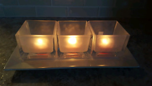 Partylite Ice Cube tealight candle holders