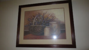 ONE  BEAUTIFUL FLOWER BIG PICTURE WITH FRAME FOR SALE