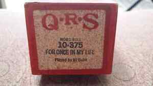 QRS Player Word Roll 10-375 For Once In My Life  played by Hi Ba Peterborough Peterborough Area image 3