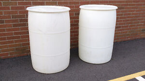 Clean poly 45 gallon drums - good for rain barrels