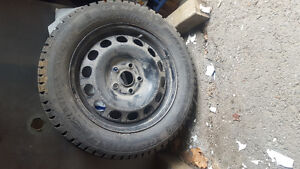 good quality winter tires in good condition Kingston Kingston Area image 1