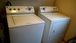 Kenmore washer and dryer set - white