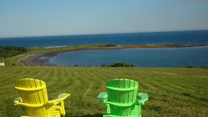 Private oceanfront acreage with a magnificent view.