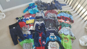 Baby boy clothing lot size 18-24 months