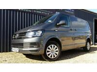 2016 16 VOLKSWAGEN TRANSPORTER T28 160BHP INDIUM GREY PANEL VAN, KOMBI, DAY-VAN
