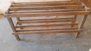 Selling various home made wooden things . Rustic looking