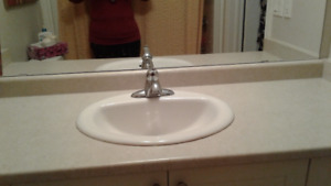 BATHROOM COUNTERTOP WITH SINK & FAUCET (2 SIZES AVAILABLE)