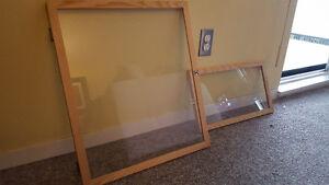 Pine glass doors, different sizes