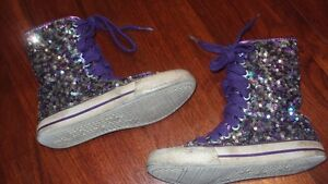Girls sparkly sneakers size 10