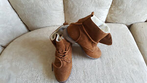 Madden Girl Brown Microfiber Boots