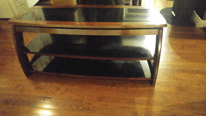 Three in one glass panel TV stand
