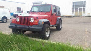 Trade my wheels and flares from 1998 Jeep for yours  + soft top