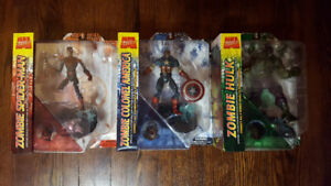 MARVEL ZOMBIES SELECT FIGURE SET SPIDERMAN COLONEL AMERICA HULK