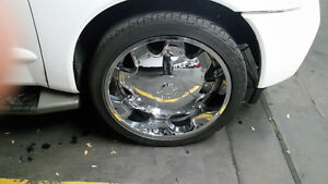 24 Inch rock start chrome rims Stratford Kitchener Area image 1