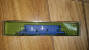 N Scale Boston and Maine Longitudinal Hopper Postage Stamp Train