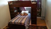 lit superposé en vrais bois