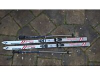 Blizzard Quattro thermo skis, Tyrolia 280 bindings and poles