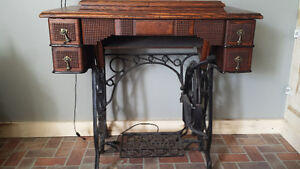 1883 new Williams sewing machine desk