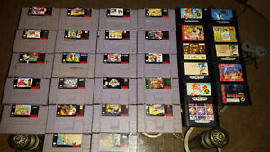 SNES SYSTEM and GAMES and SEGA SYSTEM and games take your pick