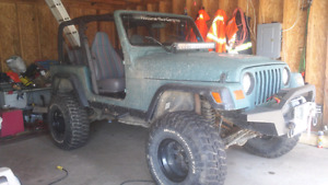 Jeep tj 1998 for sale or trade for boat