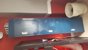 Blue metal locker and chest for sale