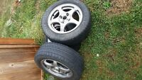 195 60R16 racing rims and tires