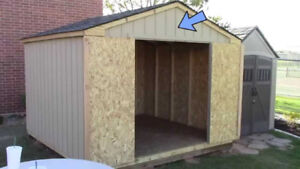 New 10x10 woed (primed siding with shingles roof)  for sale