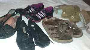 Birkenstocks, North Face boots, Jazz shoes