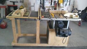 table saw with router extension table