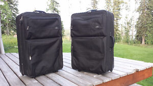 Two Matching Samsonite Suitcases