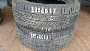 Pair of 2 Continental TrueContact 235/60R17 tires (50% tread lif