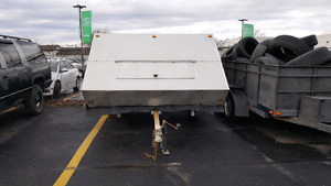 Enclosed snowmobile trailer 8x10