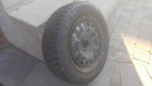 4 winter tires Nexen 185x65x15 with wheels, 4 holes, Chateauguay