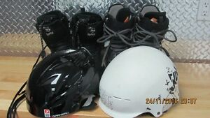 botte  botte snow casque snow patin