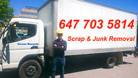 647 703 5814    Free scrap removal.   best for junk removal.