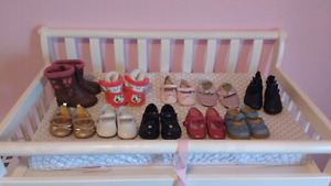 10 pairs of size 4 shoes