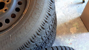 4 Goodyear Nordic winter tires on  rims for 2004 sunfire