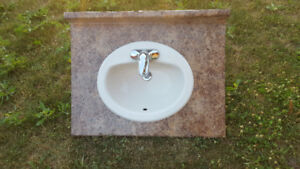 Sink with counter top and faucet - New