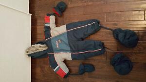 habits de neige et coupe-vent(1-2-3-4 et 5 ans pour garçon)