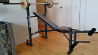 Bench press with incline- Banc d'exercice avec inclinaison