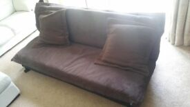 Sofa bed in excellent condition with detachable cover and cushions