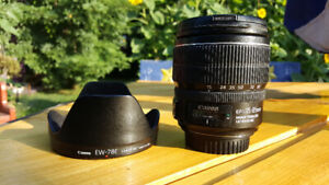 Canon EF-S  15 - 85 IS USM .  Standard/ wide angle zoom .