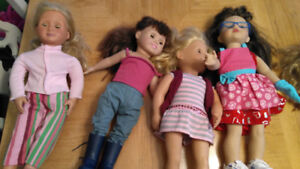 """Lot of 18"""" dolls and accessories"""