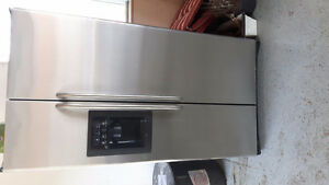 """36"""" GE stainless steel refrigerator for sale"""