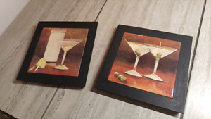 Two matching Martini pictures
