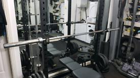 225KG Coloured Rubber Coated Tri-Grip Olympic Barbell /& Dumbbell Set 7ft 2 Bar